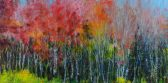 Black and Red Tree Line.oil.24×48
