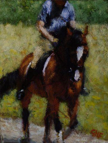 Dressage Horse 9″x12″ oil