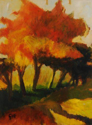 Orange Tree 30″x40″ oil